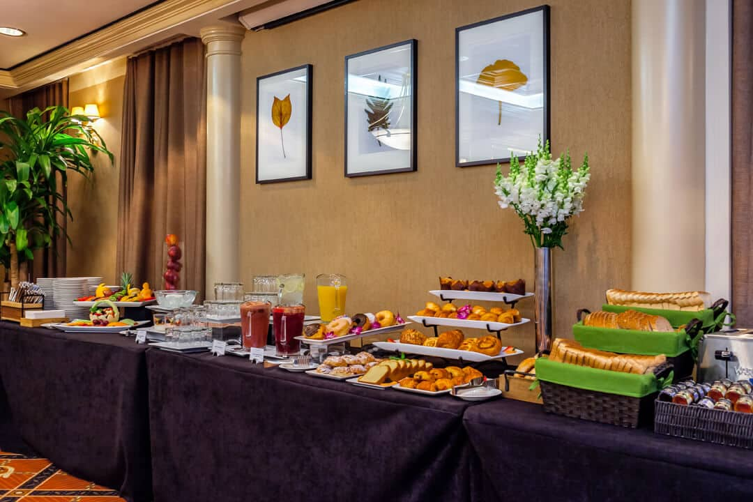 Avalon Hotel continental breakfast with gluten free options
