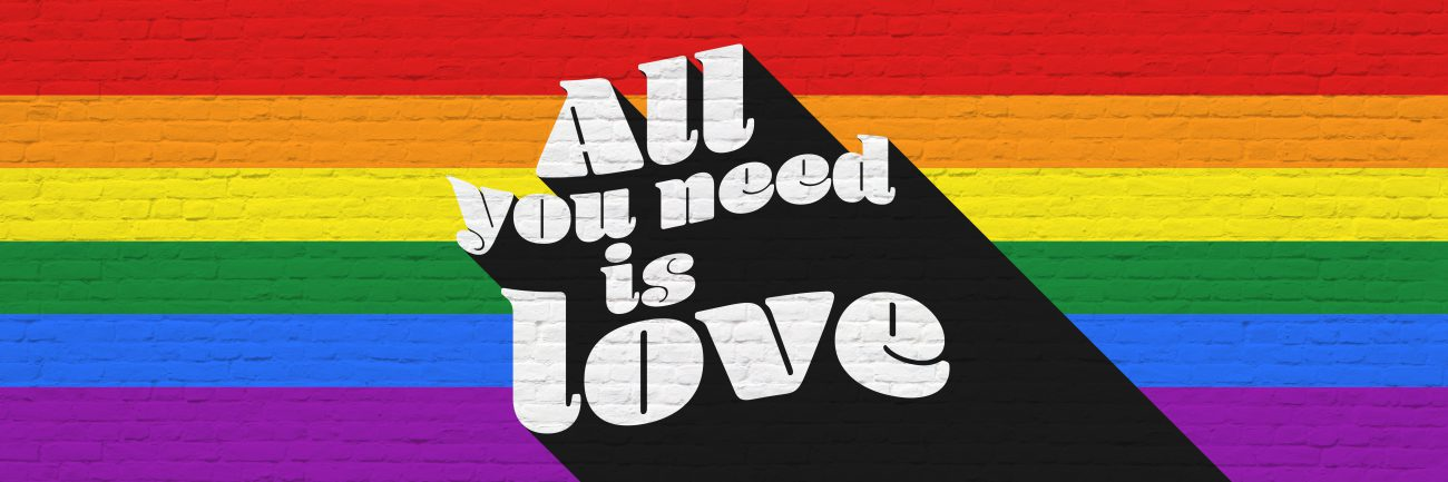 all you need is love - pride header